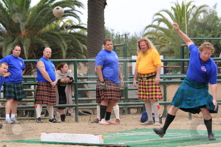 Seaside Highland Games stock photo, EDITORIAL ONLY