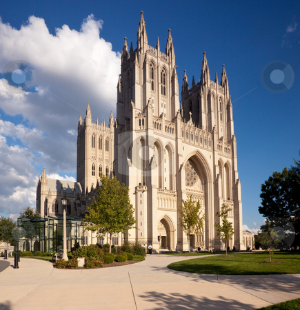 National Cathedral in Washington DC stock photo, Washington Cathedral in Washington DC on a bright sunny day by Steven Heap