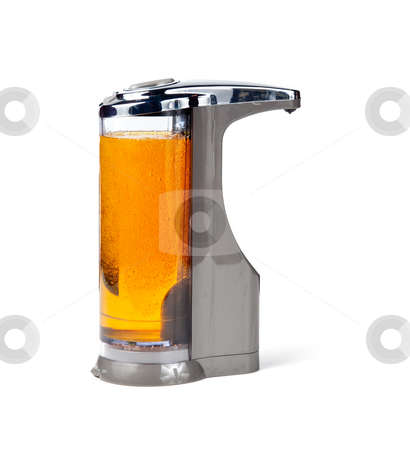 Electronic soap dispenser stock photo, Modern soap or disinfectant dispenser which works via a sensor by Steven Heap