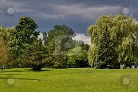 Green Parc stock photo, Parc in Beaconsfield, Montreal by Artur Staszewski