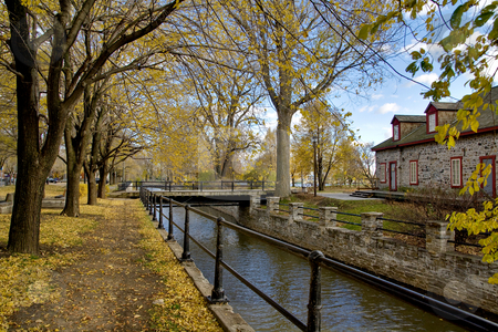 Lachine Canal stock photo, Lachine Canal in Montreal by Artur Staszewski