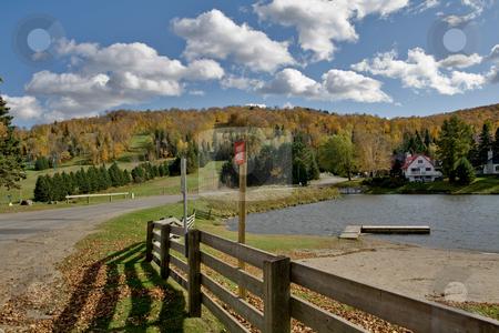 Fall in Saint Sauveur stock photo, Fall in Saint Sauveur, Quebec by Artur Staszewski