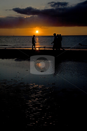 Sunset At Clearwater  stock photo, Sunset at the beach in Clearwater, Florida by Kjersti Jorgensen