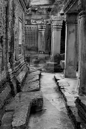 Angkor temple ruins  stock photo, Shot at a temple in Angkor, Cambodia by Kjersti Jorgensen