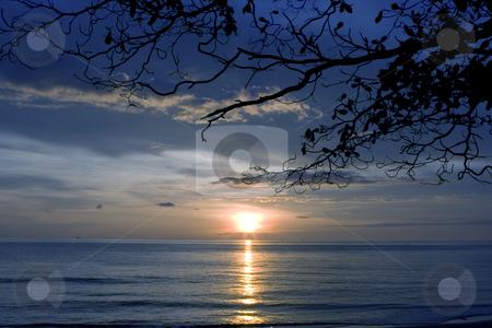 White sandy beach  stock photo, Sunset at Koh Chang by Kjersti Jorgensen