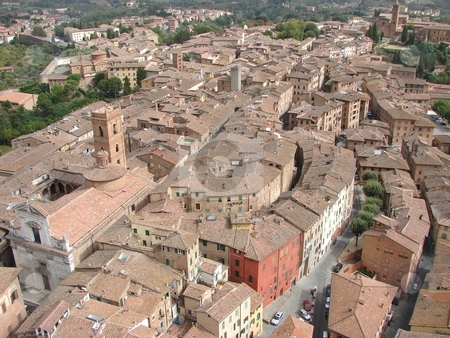 Siena view stock photo,  by Giancarlo Liguori