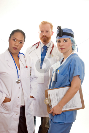 Three Medical Professionals stock photo, Three medical professionals by Leah-Anne Thompson