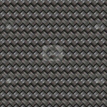 Woven Metal stock photo, A silver woven texture that tiles seamlessly by Todd Arena