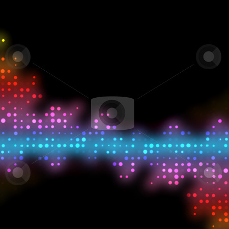Funky Glowing Dots stock photo, Glowing halftone dots in rows. A funky and modern looking background texture. by Todd Arena