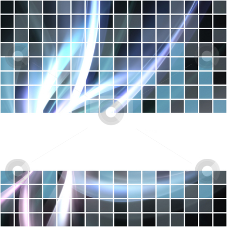 Abstract Glowing Layout stock photo, A seamless banner or border that tiles as a pattern in any direction. by Todd Arena