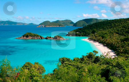 Trunk Bay on the island of St John stock photo, Beautiful view of Trunk Bay on the island of St John in the Caribbean by Steven Heap