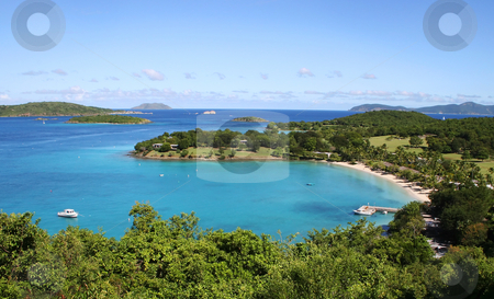 Caneel Bay in St John stock photo, Caneel Bay in the island of St John in the Caribbean by Steven Heap