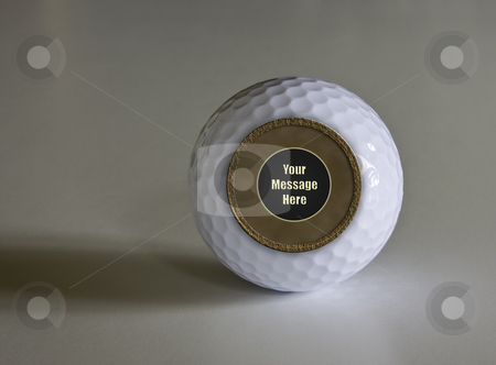Magic Golf Ball stock photo, Magic Fortune telling golf ball which can be modified with any message by Steven Heap