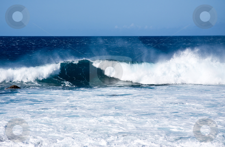 Crashing Waves off the coast of Hawaii stock photo, Crashing waves and surf off the coast of the Big Island of Hawaii by Steven Heap