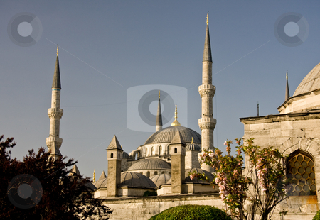 Blue Mosque 8 stock photo, Blue Mosque in Istanbul over the city by Steven Heap
