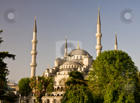 Domes of Blue Mosque stock photo, Stacked domes of the Blue Mosque in Istanbul Turkey by Steven Heap