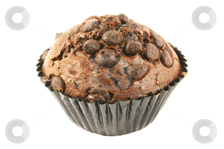 Chocolate Cupcake stock photo, Chocolate Cupcake Isolated on a White Background by Kheng Ho Toh