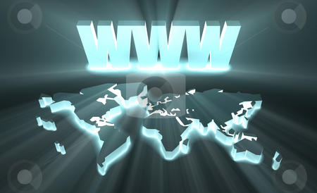 WWW stock photo, WWW World Wide Web Internet Online in 3d by Kheng Ho Toh
