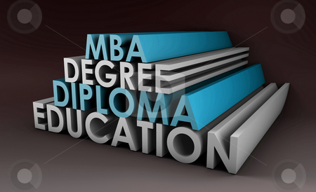 Qualifications stock photo, Qualifications in 3d Degree Diploma and MBA by Kheng Ho Toh