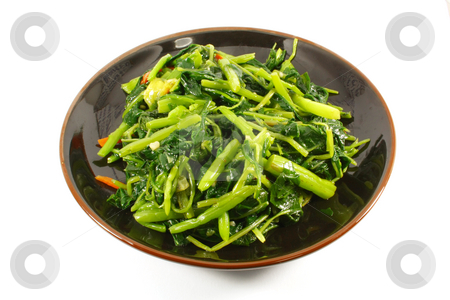 Single Serving of Steamed Vegetables stock photo, Single Serving of Steamed Vegetables on a Black Plate by Kheng Ho Toh
