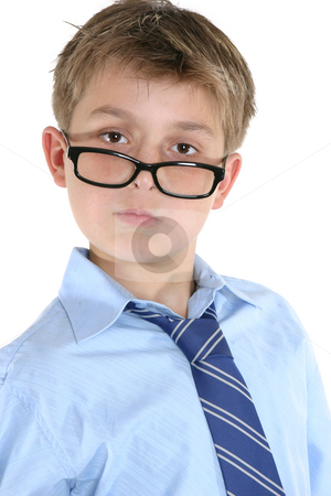 Smart Student stock photo, Portrait of a student wearing glasses. by Leah-Anne Thompson