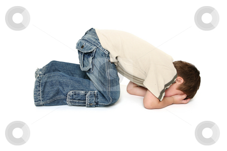 Toddler Tantrum stock photo, Child sulking or throwing a tantrum. by Leah-Anne Thompson