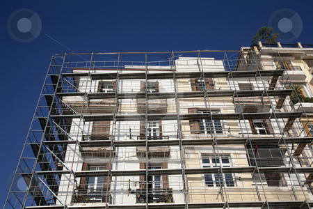 Renovation stock photo, Building Renovation by Portokalis