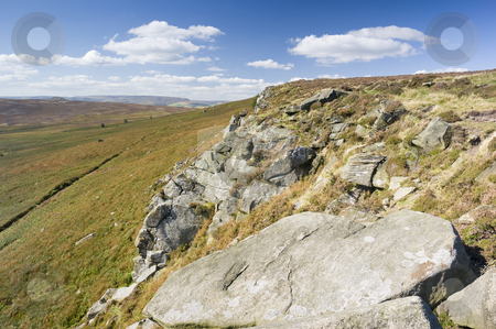 Peak District National Park  stock photo, Stanage Edge in Peak District National Park Derbyshire England by Stephen Meese
