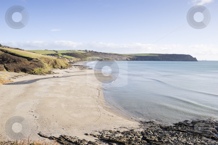 Pendower Beach stock photo, Pendower beach on the coast of Cornwall England by Stephen Meese