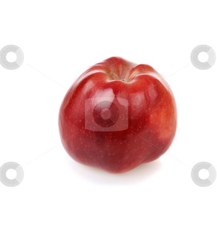 Fresh red apple stock photo, Fresh red apple on white background by Iryna Rasko