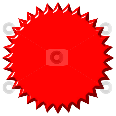 3D Red Seal stock photo, 3d red seal isolated in white by Georgios Kollidas