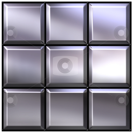 Silver Buttons stock photo, 3d silver buttons by Georgios Kollidas