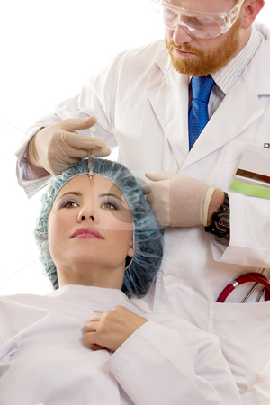 Botox Treatment stock photo, Botox by Leah-Anne Thompson