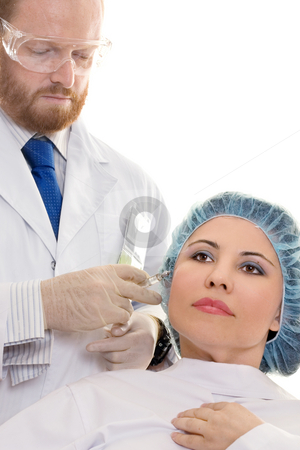 Botox Injection stock photo, Botox by Leah-Anne Thompson