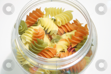 Pasta Spirals stock photo, Pasta Spirals in a Jar by Leah-Anne Thompson