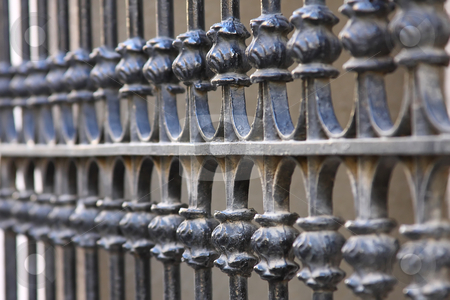 Barrier stock photo, Harmonic repetitive forms in a nice barrier by ARPAD RADOCZY