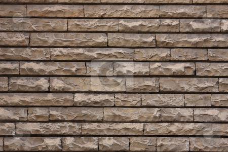 Brick wall stock photo, Modern grey brick wall texture by ARPAD RADOCZY