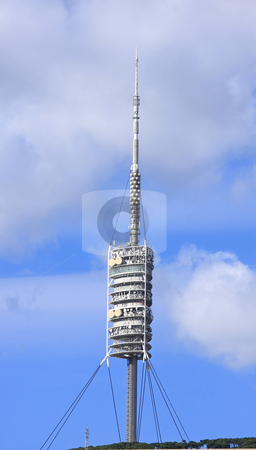 TV tower stock photo, A tall TV tower, Barcelona by ARPAD RADOCZY