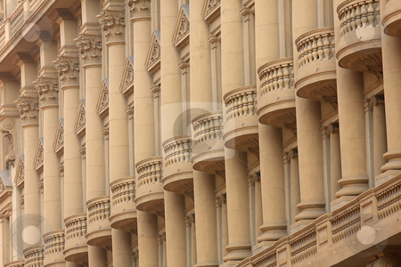 Interesting architecture stock photo, Interesting architecture of an old building in Barcelona by ARPAD RADOCZY
