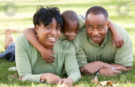 African American Family in the Park stock photo, African American Family Enjoying a Day in the Park. by Andy Dean
