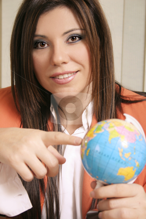Travel Consultant stock photo, Travel consultant discussing travel options by Leah-Anne Thompson