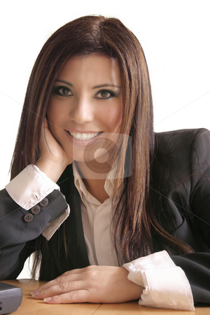 Smiling consultant stock photo, Smiling businesswoman by Leah-Anne Thompson