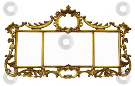 Antique Mirror with Copyspace stock photo, Antique Mirror with Copyspace isolated with clipping path by Margo Harrison
