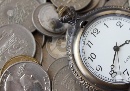 Time is Money stock photo, An illustration of concept of time and money. by Ah Hock Ong