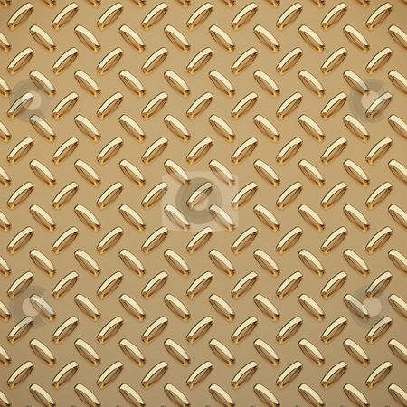 Gold tread plate  stock photo, A very large sheet of gold diamond or tread plate by Phil Morley