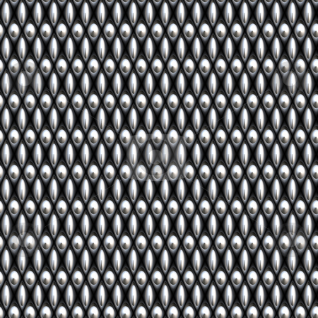 Chain link mesh stock photo, A large image of silver or chrome chain link mesh by Phil Morley