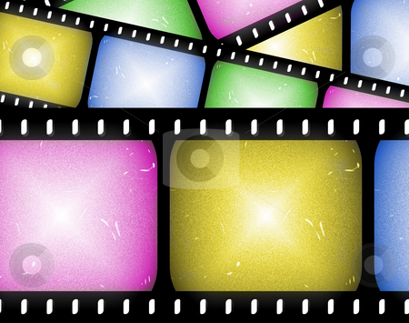 Abstract filmstrip stock photo, Abstract composition of movie frames or film strip by Phil Morley