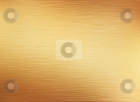 Brushed gold  stock photo, Large sheet of brushed gold metal texture by Phil Morley