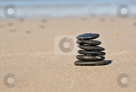 Beach stones stock photo, Nice pile of stones on the beach by Phil Morley