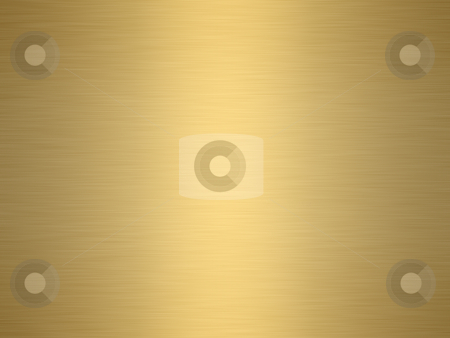 Brushed gold stock photo, A large sheet of rendered finely brushed gold as background by Phil Morley